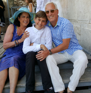With our amazing God-son Zak Koenigs at the Western Wall